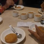 Hot kachoris and tea at Delhi Mistan Bhandar