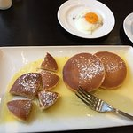 Yummy pancakes with lemon butter. Oh my!