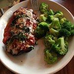 Shrimp, spaghetti and capers, AND Small pizza, Chicken Marsala, Eggplant Parmesan