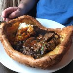 Make sure you are hungry when ordered the Yorkshire Pudding ;-)