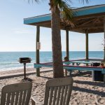 Get together with family and friends at one of our 4 cabanas; outfitted with charcoal bbqs.