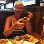 Steak sandwich with Ju & zingers melt . Good food good service