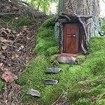 Found this tiny door not far off the path. Find it if you can!