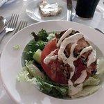 Warm chicken salad at The Brazen Head