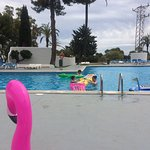 View from Fedra 1, room 309 and Fedra pool. Inflatables are allowed and the shops on site sell a