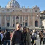 Outside St. Peter's Basilica on Christmas Eve