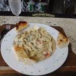 Seafood Fettucini.  5 Stars!