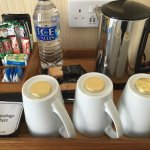 beverage trays in all rooms