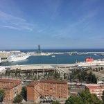 Overlooking Barcelona Harbor
