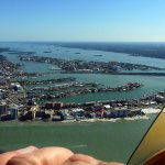 Hands on flying over Clearwater Beach