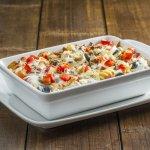 pasta aux légumes (végétarien)  en livraison 10,90 €           à emporter 8,90 € seulement !