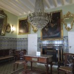 A museum-like sitting room.