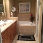 Master Bathroom with whirlpool tub- separate shower and toilet area.