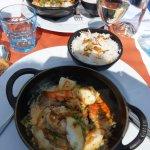 Cocotte de la mer au curry, curcuma & basilic vraiment excellent.