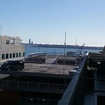 View of Auckland Harbour from balcony
