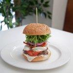 Sunblush:  Prime juicy beef, chorizo, buffalo mozzarella cheese, semi sun-dried tomato, rocket.
