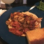 Shrimp & Grits with cornbread