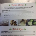Thai house dinner menu
