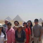 Posing close to the Pyramids
