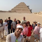 Sakkara with Abdel. What an amazing guide we had