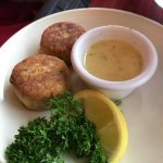 Seared Crab cake appetizer