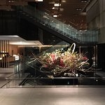 Lobby of Hotel with its spectacular Sogetsu flower arrangement.