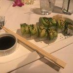 Catepillar Roll, cucumber, avocado, scallion