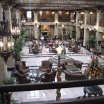 This is the gorgeous lobby of the Davenport Hotel