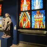 Stained glass and statuary from St Stephen Church