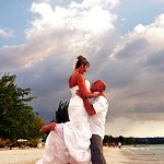 our wedding on the beach