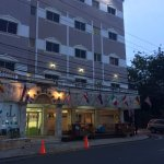 Parte frontal del Hotel los jardines el 16-05-2017, a las 7.14 p.m