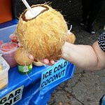 Fresh coconut at the Aloha Stadium Swap Meet
