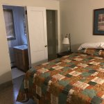 Single room with full size bed.