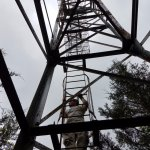 Old skyway support tower on the Nature Trail.