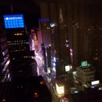 Looking out from 50th floor Nighttime - Time Square