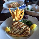 Swordfish, and really crispy fries.