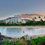 Marriott Condos across the Ulua Lagoon at sunrise