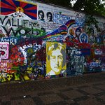 Graffiti wall with John Lennon.