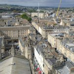 View from the roof of Bath Abbey