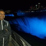 Lovely illuminated Niagara Falls at night