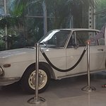 Fiat displayed in the foyer