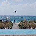 Kite boarding in East Bay on a breezy day
