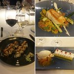 Stamina sushi roll, Halibut and Lemon Pistachio dessert
