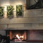 Fire place in restaurant area