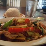 Cashew nut chicken w/Jasmine rice.