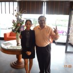 this is photo clicked with the hotel receptionist.. very courteous girl