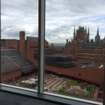 view of the British Library from my room