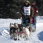 Musher at Campbell Creek Airstrip during the ceremonial start 2017