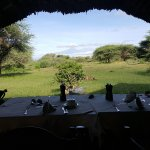 Dining Table with view on Kilimanjaro