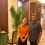 With Hostess Rabina Rai